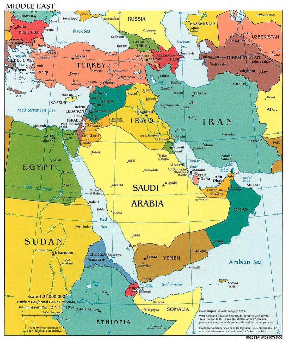 القدس الأوسط خريطة الشرق الأوسط خريطة القدس إسرائيل